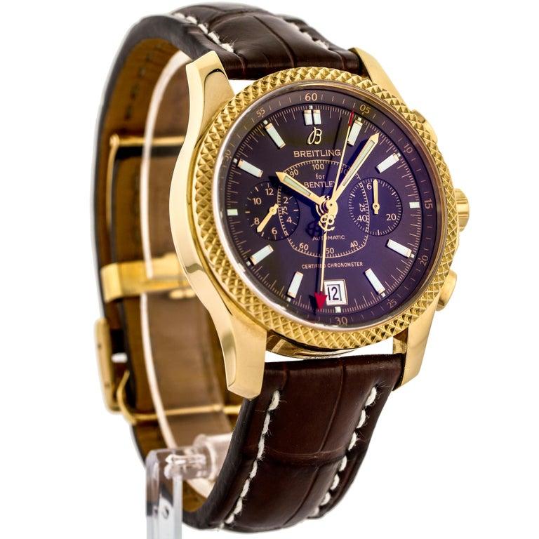 Breitling Bentley Gmt Wristwatches: Breitling 18 Karat Gold Bentley Mark VI Special Edition