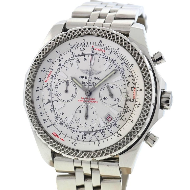 Breitling Stainless Steel Bentley Automatic Wristwatch Ref: Breitling A25362 Bentley 30 Seconds Chronograph Automatic