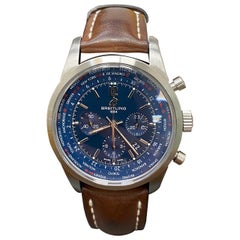 Breitling AB0510 Transocean Chronograph Unitime Pilot Stainless Steel Box Paper