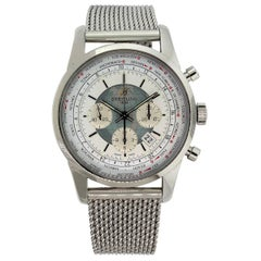 Breitling AB0510 Transocean Unitime White Globe Dial Watch in Stock