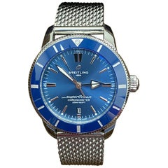 Breitling AB2030 Super Ocean Blue Dial Stainless Steel Box Papers