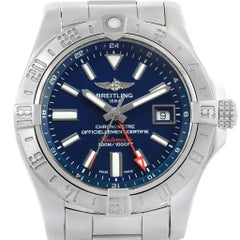 Breitling Aeromarine Avenger II GMT Blue Dial Watch A32390 Box