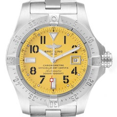 Breitling Aeromarine Avenger Seawolf Yellow Dial Steel Mens Watch A17330