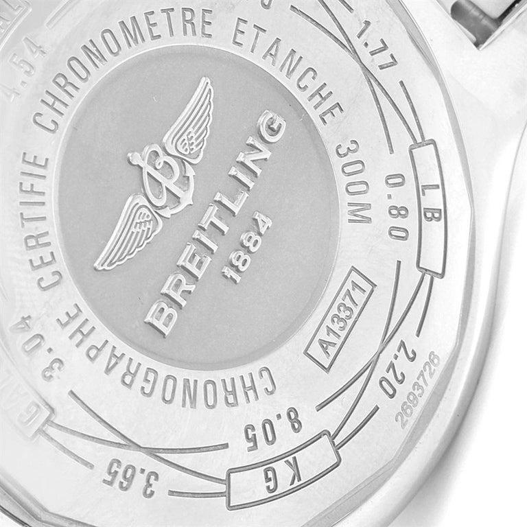 Breitling Aeromarine Super Avenger Black Dial Steel Men's Watch A13371 For Sale 4