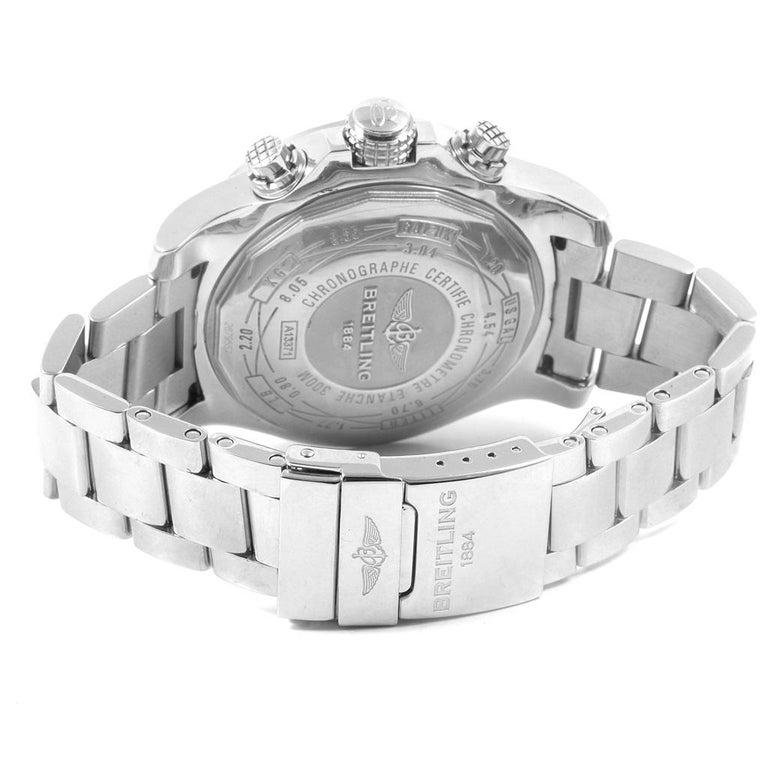 Breitling Aeromarine Super Avenger Black Dial Steel Men's Watch A13371 For Sale 5
