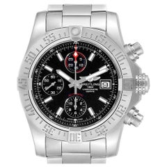 Breitling Aeromarine Super Avenger Black Dial Watch A13381 Card