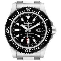 Breitling Aeromarine Superocean 44 Black Dial Watch Y17393 Box Papers