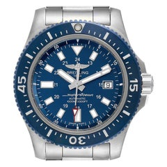 Breitling Aeromarine Superocean 44 Blue Dial Watch Y1739310 Box Papers