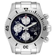 Breitling Aeromarine SuperOcean Black Dial Chronograph II Watch A13341 Box