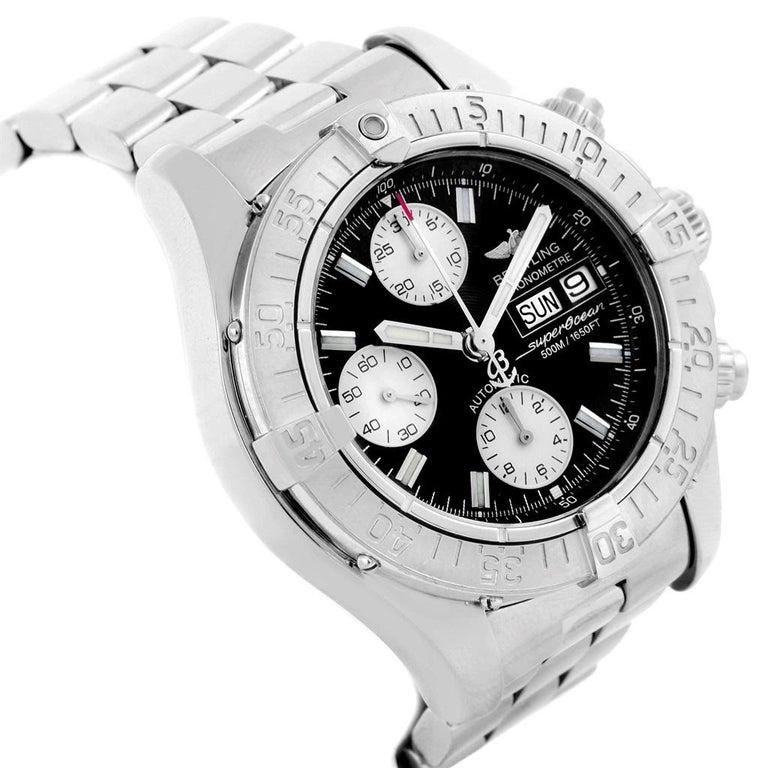 61c711ed74a Breitling Aeromarine Superocean Black Dial Mens Watch A13340 Box.  Authomatic self-winding movement.