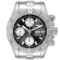 Breitling Aeromarine Superocean Black Dial Men's Watch A13340 Box Papers