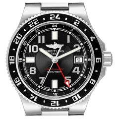 Breitling Aeromarine Superocean GMT Black Dial Men's Watch A32380 Box Papers