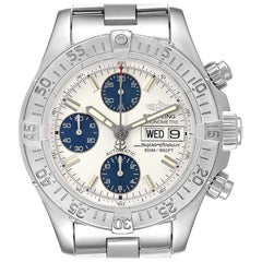 Breitling Aeromarine Superocean Silver Dial Men's Watch A13340 Box Papers