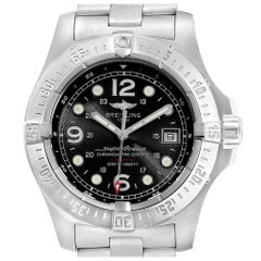 Breitling Aeromarine Superocean Steelfish Black Dial Men's Watch A17390