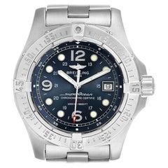 Breitling Aeromarine Superocean Steelfish Blue Dial Men's Watch A17390