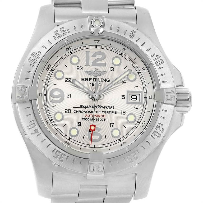 timeless design beb0b 7d8a0 Breitling Aeromarine Superocean Steelfish Silver Dial Men's Watch A17390