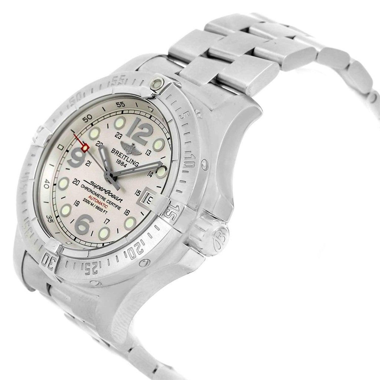 6e5be7aa2f0 Breitling Aeromarine Superocean Steelfish Silver Dial Men s Watch A17390  For Sale at 1stdibs