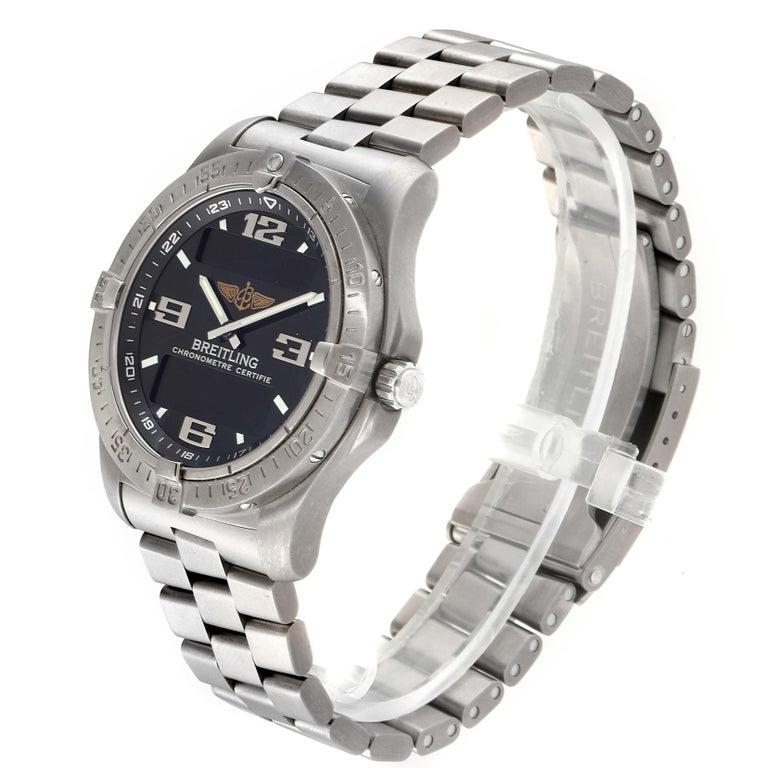 Breitling Aerospace Avantage Titanium Perpetual Alarm Watch E79362 Box Papers In Excellent Condition In Atlanta, GA