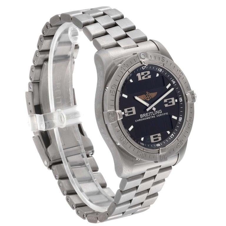 Men's Breitling Aerospace Avantage Titanium Perpetual Alarm Watch E79362 Box Papers