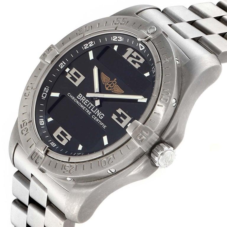 Breitling Aerospace Avantage Titanium Perpetual Alarm Watch E79362 Box Papers 1