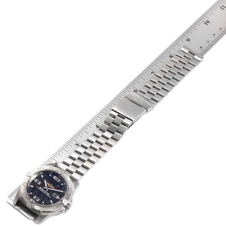 Breitling Aerospace Avantage Titanium Perpetual Alarm Watch E79362 Box Papers 5