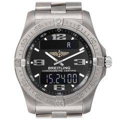 Breitling Aerospace Avantage Titanium Perpetual Alarm Watch E79362 Box Papers