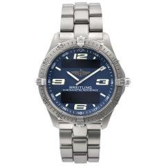 Breitling Aerospace Titanium Blue Dial Quartz Men's Digital Analog Watch E75362