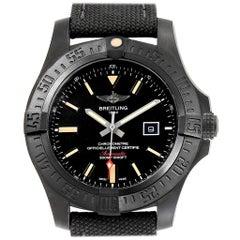 Breitling Avenger Blackbird 48 Titanium Canvas Strap Men's Watch V17310