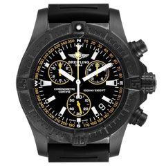 Breitling Avenger Seawolf Blacksteel Chrono Yellow Hands Watch M73390 Unworn