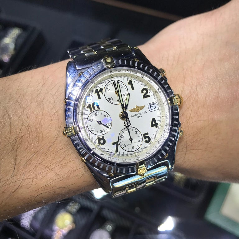 Breitling B13050 1 Chronomat White Dial Watch