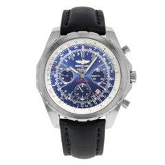 Breitling Bentley A25362 blaues Zifferblatt Chronograph Stahl automatische Herrenuhr
