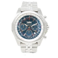 Breitling Bentley A25363 with Band, Stainless-Steel Bezel and Blue Dial