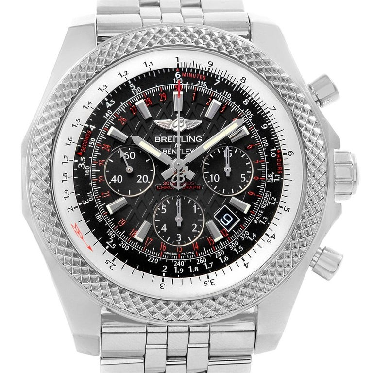 Breitling Bentley Watch >> Breitling Bentley B06 Black Dial Chronograph Watch Ab0611 Box Papers