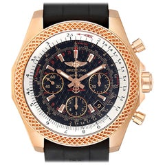 Breitling Bentley B06 Rose Gold Black Dial Men's Watch RB0612 Box Papers
