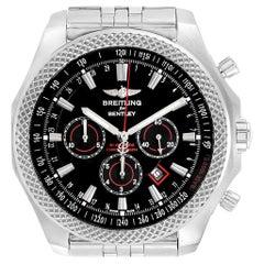 Breitling Bentley Barnato Black Red Dial Steel Men's Watch A25368