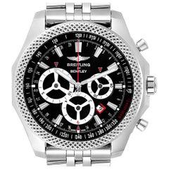 Breitling Bentley Barnato Racing Black Dial Men's Watch A25366 Box Papers