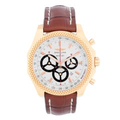 Breitling Bentley BarNato Racing Men's 18k Rose Gold Chronograph Watch