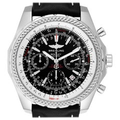 Breitling Bentley Black Dial Chronograph Steel Men's Watch A25362