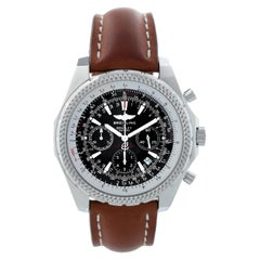 Breitling Bentley Chronograph Men's Steel Watch Black Dial