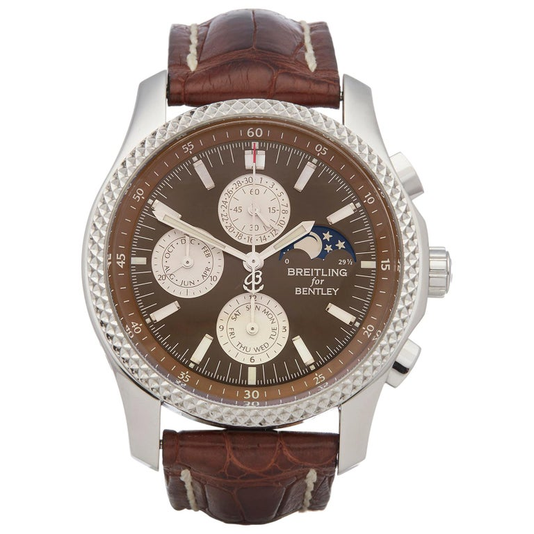 Breitling Bentley Chronograph Stainless Steel P19362 For Sale
