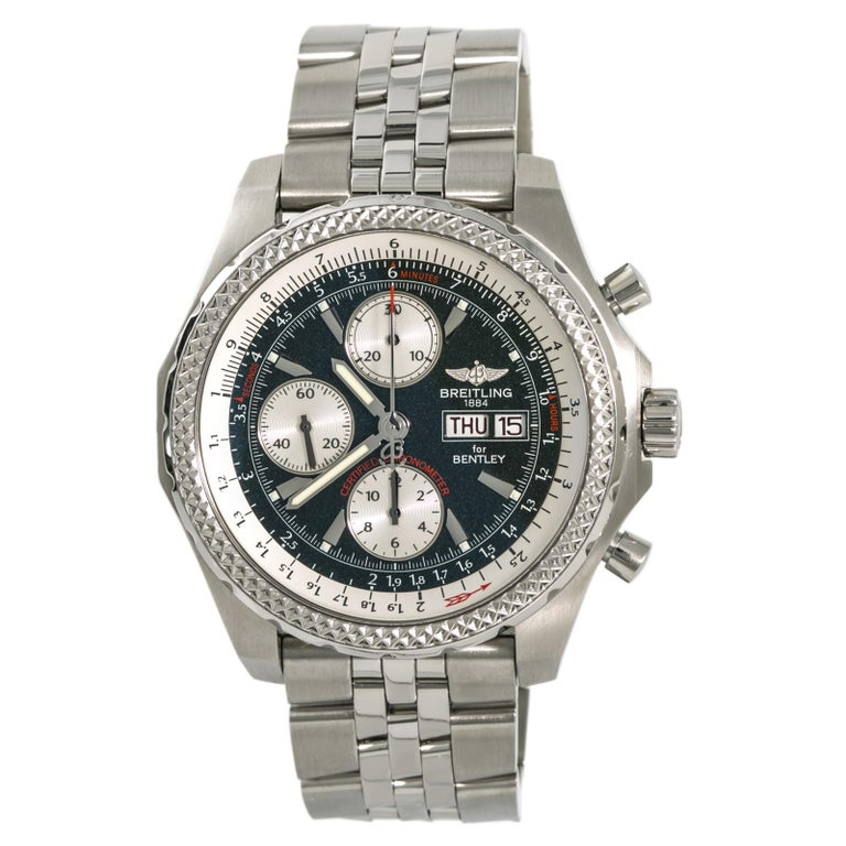 Breitling Bentley Gt Wristwatches: Breitling Bentley Continental GT A13363 Green Automatic