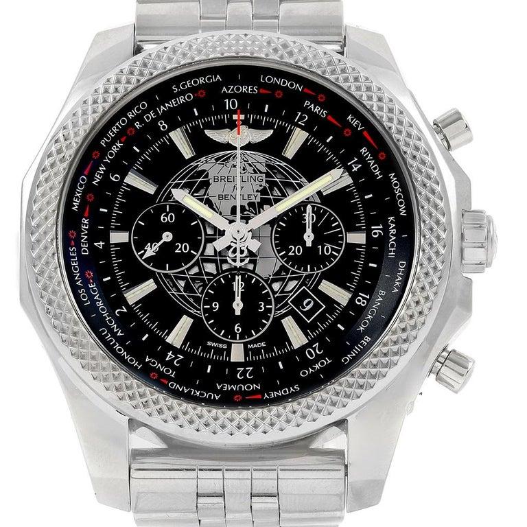 Breitling Bentley Gmt Wristwatches: Breitling Bentley GMT B05 Unitime Black Dial Men's Watch