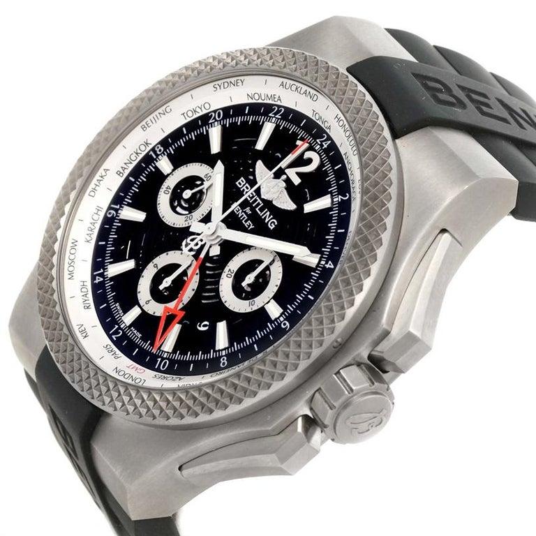 Breitling Bentley Gmt Wristwatches: Breitling Bentley GMT Chronograph Titanium Watch EB0432