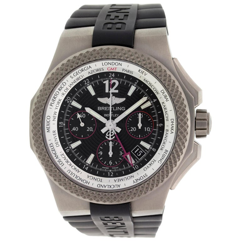 Breitling Bentley Gmt Wristwatches: Breitling Bentley GMT EB043335/BD78 For Sale At 1stdibs