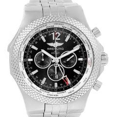 Breitling Bentley GMT Grey Dial Chronograph Steel Men's Watch A47362