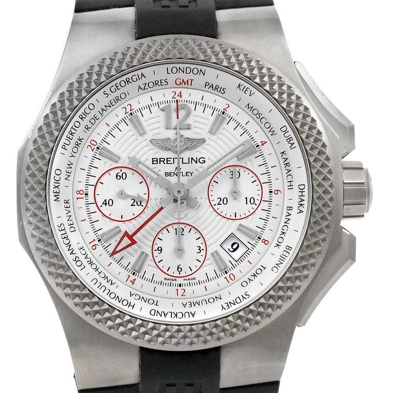 Breitling Bentley Gmt Wristwatches: Breitling Bentley GMT Light Body B04 Titanium Men's Watch