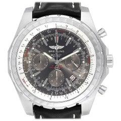 Breitling Bentley Grey Dial Chronograph Steel Men's Watch A25362
