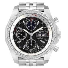 Breitling Bentley GT Black Dial Steel Men's Watch A13363 Box Papers