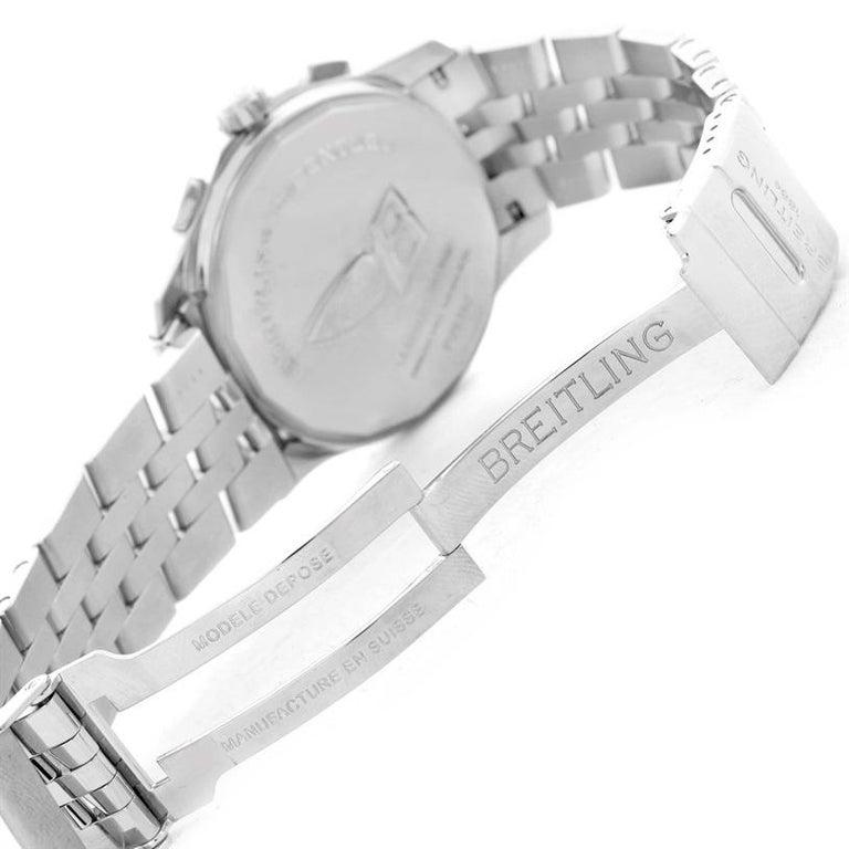 Men's Breitling Bentley Mark VI Brown Dial Men's Steel Platinum Watch P26362 For Sale