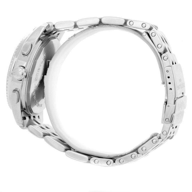 Breitling Bentley Mark VI Brown Dial Men's Steel Platinum Watch P26362 For Sale 3